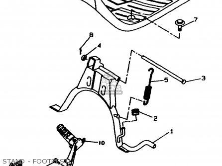 Yamaha Cw60k 1998 Stand - Footrest