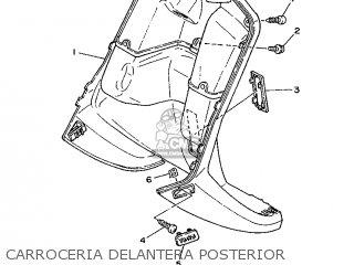 Yamaha Cy90 1991 4cx1 Spain 214cx-352s1 Carroceria Delantera Posterior