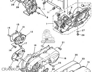 Yamaha Cy90 1991 4cx1 Spain 214cx-352s1 Crankcase