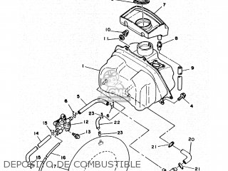 Yamaha Cy90 1991 4cx1 Spain 214cx-352s1 Deposito De Combustible