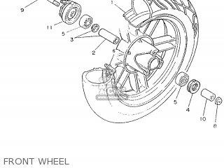 Yamaha Cy90 1991 4cx1 Spain 214cx-352s1 Front Wheel