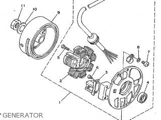 Yamaha Cy90 1991 4cx1 Spain 214cx-352s1 Generator