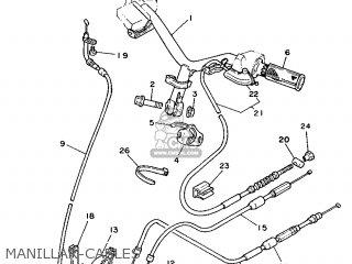 Yamaha Cy90 1991 4cx1 Spain 214cx-352s1 Manillar-cables