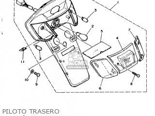 Yamaha Cy90 1991 4cx1 Spain 214cx-352s1 Piloto Trasero
