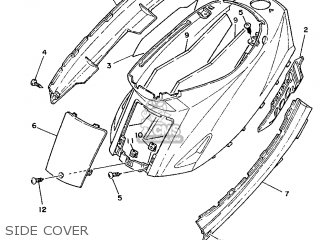 Yamaha Cy90 1991 4cx1 Spain 214cx-352s1 Side Cover