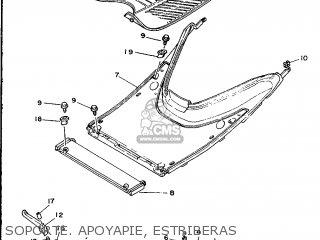 Yamaha Cy90 1991 4cx1 Spain 214cx-352s1 Soporte  Apoyapie  Estriberas