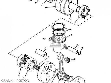 Yamaha Ds7 1972 Usa Crank - Piston