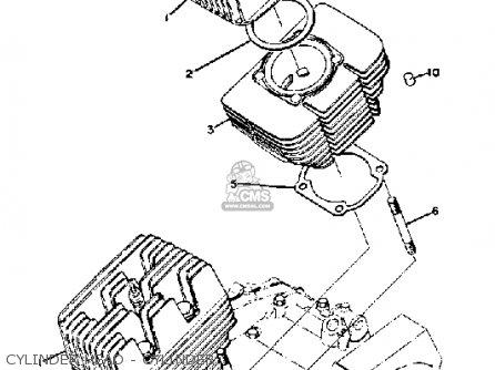Yamaha Ds7 1972 Usa Cylinder Head - Cylinder