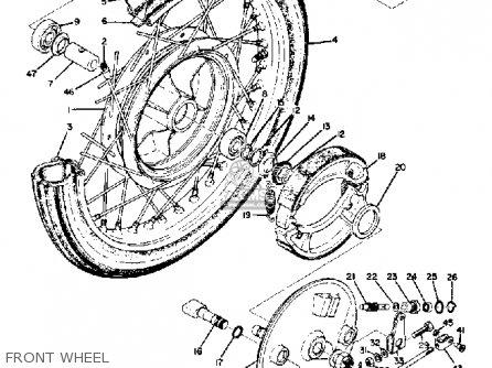 Yamaha Ds7 1972 Usa Front Wheel