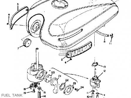 Yamaha Ds7 1972 Usa Fuel Tank