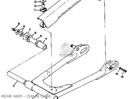 Yamaha Ds7 1972 Usa Rear Arm - Chain Case