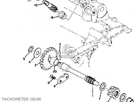 Yamaha Ds7 1972 Usa Tachometer Gear