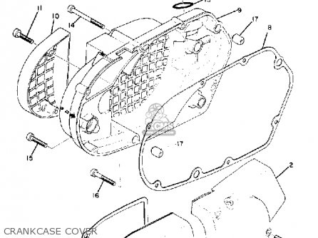 Yamaha Dt1 1968 Crankcase Cover
