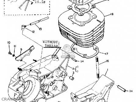 Yamaha Dt1 1968 Usa Crankcase