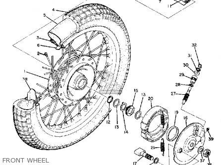 Yamaha Dt1 1968 Usa Front Wheel