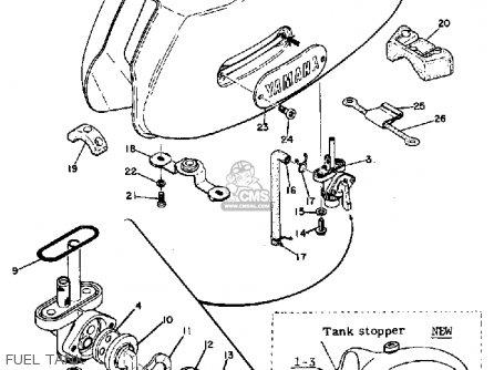 Yamaha Dt1 1968 Usa Fuel Tank