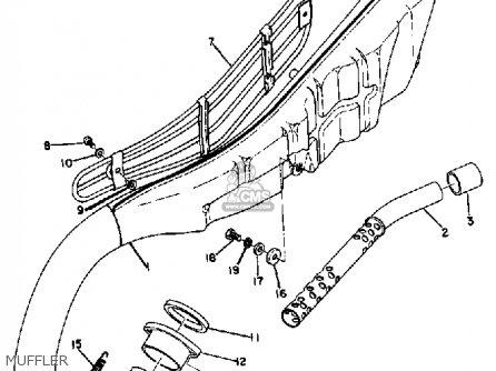 Yamaha Dt1 1968 Usa Muffler
