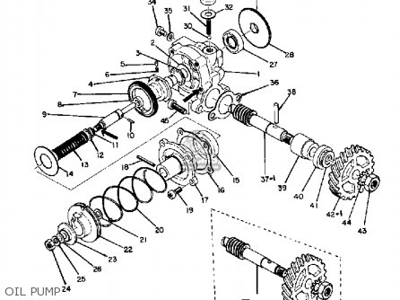 Yamaha Dt1 1968 Usa Oil Pump