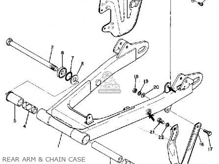 Yamaha Dt1 1968 Usa Rear Arm  Chain Case