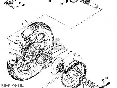 Yamaha Dt1 1968 Usa Rear Wheel
