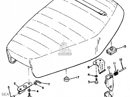 Yamaha Dt1 1968 Usa Seat