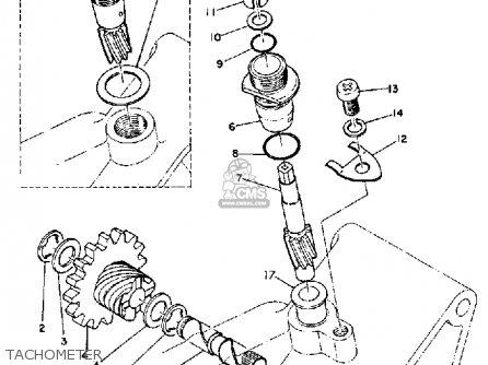Yamaha Dt1 1968 Usa Tachometer
