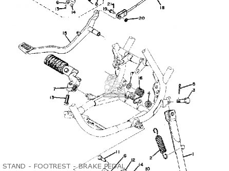 yamaha dt 100 wiring yamaha dt 125 wiring diagram pdf yamaha dt100 1975 usa parts list partsmanual partsfiche
