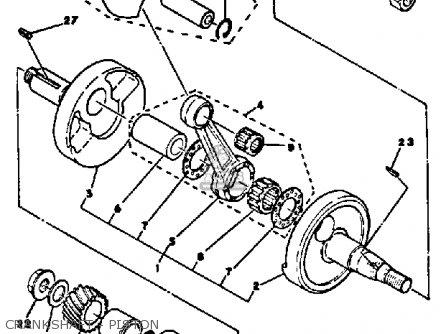 yamaha dt100 1980 (a) usa crankshaft - piston  crankshaft - piston