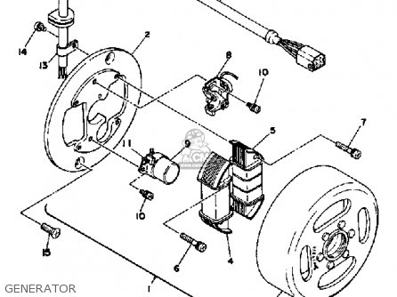 Yamaha Dt125 1979 Usa Parts Lists And Schematics