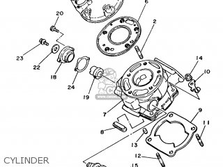Yamaha DT125LC 1987 35A ENGLAND 2735A-310E1 parts lists and ... on