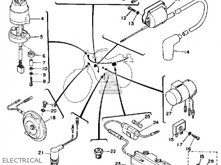 1974 Honda Xl 125 Wiring Diagram moreover Electric Tachometer Wiring Diagram also Yamaha Raptor 80 Wiring Diagram besides Cdi And Ignition Coil Wiring Diagram also Wiring Diagram 1983 Yamaha It. on yamaha dt 125 electrical wiring diagram