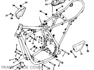 yamaha dt250 1974 usa parts lists and schematics Motorcycle Wiring Diagram frame side cover