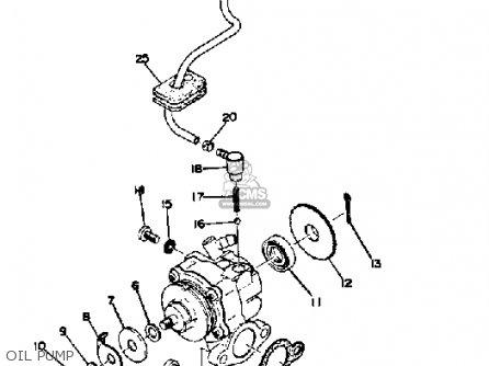 yamaha dt250 1974 usa parts lists and schematics 2004 Yamaha XS1100 Wiring-Diagram oil pump