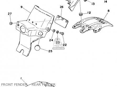 yamaha dt250 1977 usa parts list partsmanual partsfiche. Black Bedroom Furniture Sets. Home Design Ideas