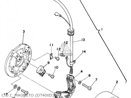 Partslist moreover Wiring Diagram For Yamaha Raptor moreover Honda Prelude Wiring Harness Routing furthermore Diagram For Wiring A Yamaha Sr250 besides Schematy CDI. on yamaha dt 250 wiring diagram