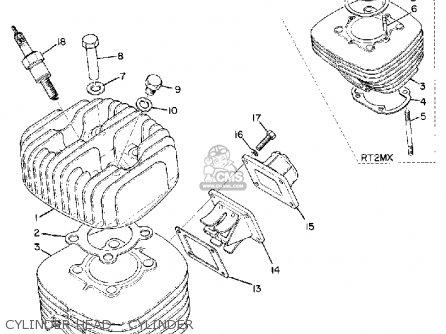 Yamaha Dt2mx 1972 Usa Cylinder Head - Cylinder