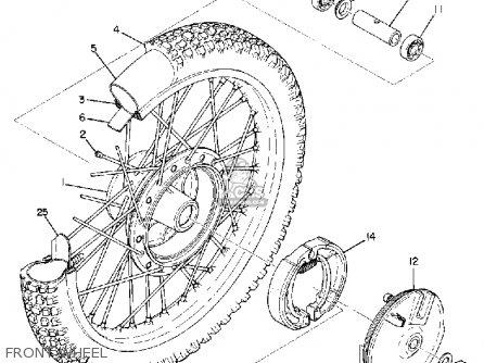 Yamaha Dt2mx 1972 Usa Front Wheel