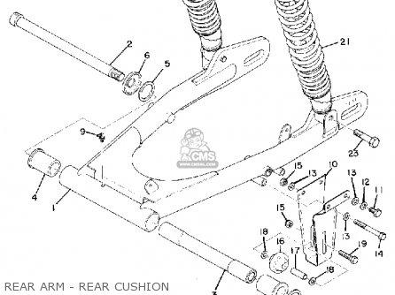 Yamaha Dt2mx 1972 Usa Rear Arm - Rear Cushion