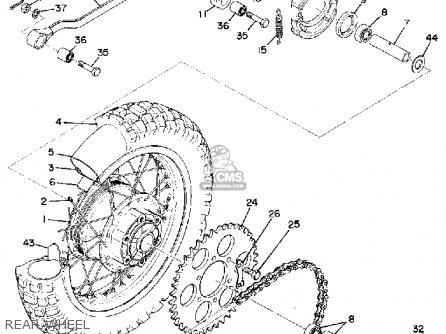 Yamaha Dt2mx 1972 Usa Rear Wheel