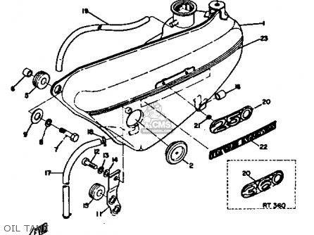 Yamaha Dt3 1972 1973 Usa Oil Tank
