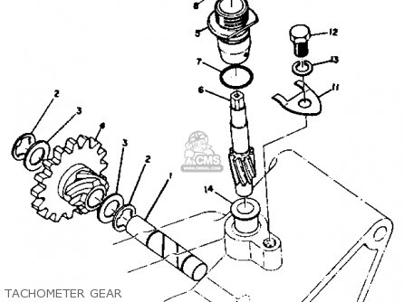 Yamaha Dt3 1972 1973 Usa Tachometer Gear