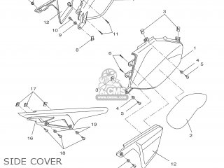yamaha dt50r 2007 13c1 france 1f13c 300e1 parts lists and schematics DT50 Yamaha Parts yamaha dt50r 2007 13c1 france 1f13c 300e1 side cover