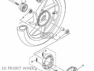 Yamaha Ec-03 2011 1cb3 Europe 1k1cb-300e1 10 Front Wheel
