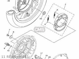 Yamaha Ec-03 2011 1cb3 Europe 1k1cb-300e1 11 Rear Wheel