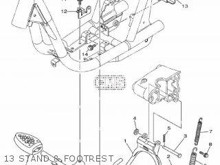 Yamaha Ec-03 2011 1cb3 Europe 1k1cb-300e1 13 Stand  Footrest