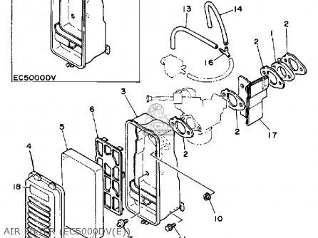 Yamaha Ec5000dv Ec5000dve Generator Air Filter ec5000dve
