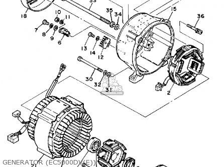 Yamaha Ec5000dv Ec5000dve Generator Generator ec5000dve