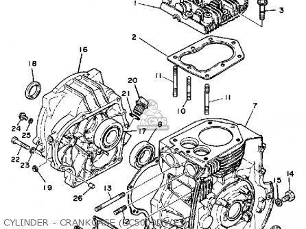 Yamaha Ec5000dv dve Generator Cylinder - Crankcase ec5000dve