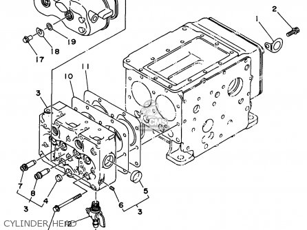 Yamaha Edl6500s 1998 Cylinder Head