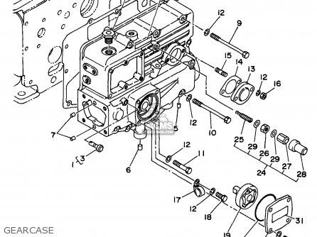 Yamaha Edl6500s 1998 Gearcase